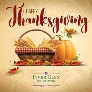 happy thanksgiving 2016, inver glen senior living, inver grove heights mn
