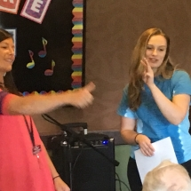 Karaoke Show-Inver Glen Senior Living-thumbs up