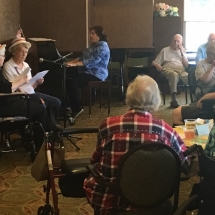 Karaoke Show-Inver Glen Senior Living-singing and playing piano