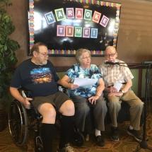Karaoke Show-Inver Glen Senior Living-a trio show
