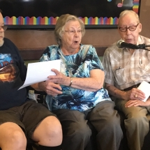 Karaoke Show-Inver Glen Senior Living-trio singing