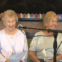 Karaoke Show-Inver Glen Senior Living-two ladies having some fun