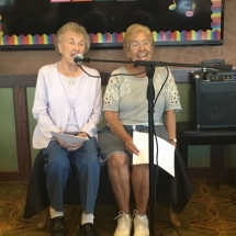 Karaoke Show-Inver Glen Senior Living-singing a duette