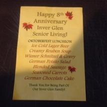 Inver Glen's 8th Anniversary